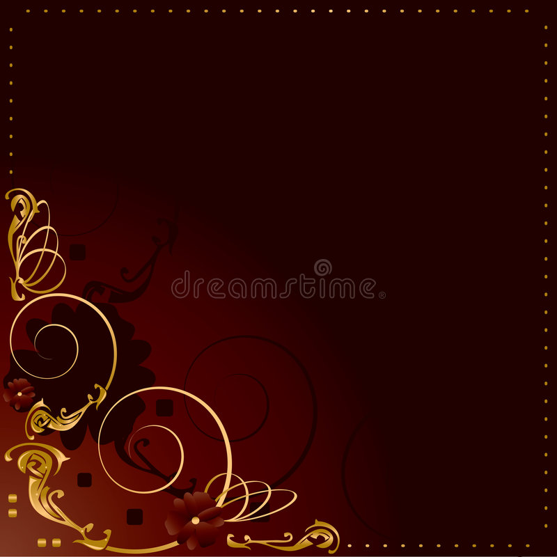 Gold red frame background 1 royalty free illustration
