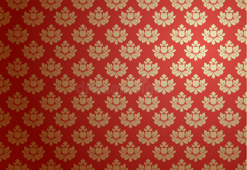 Gold and red glamour pattern stock illustration