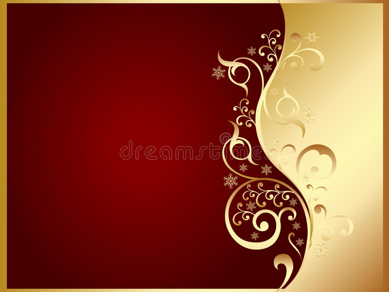 Download Gold And Red Invitation Card Stock Vector - Illustration: 11639861