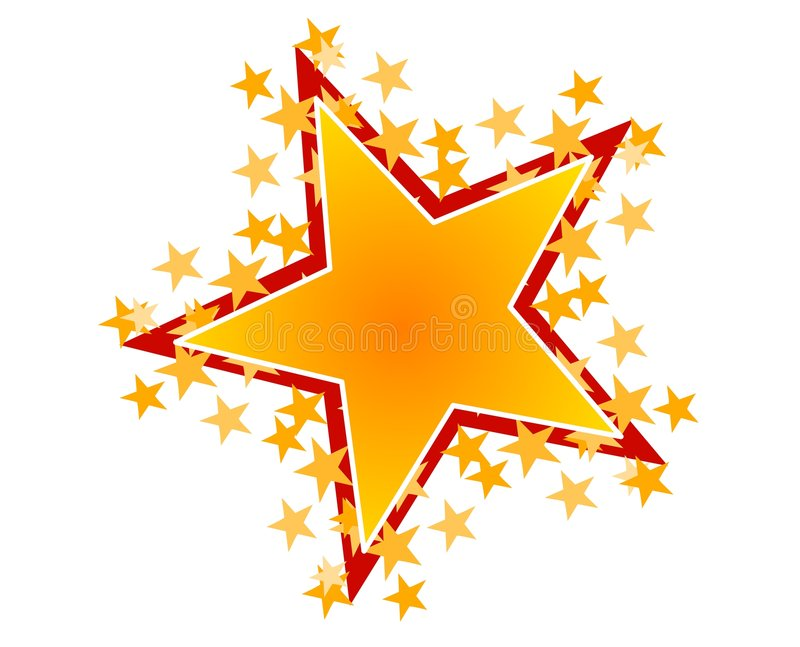 gold red star clip art stock illustration illustration of colorful rh dreamstime com gold star clipart images microsoft clipart gold star