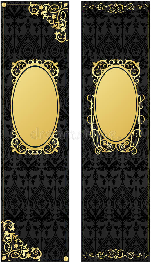 Download Gold retro, vintage frame stock vector. Image of beauty - 15044034