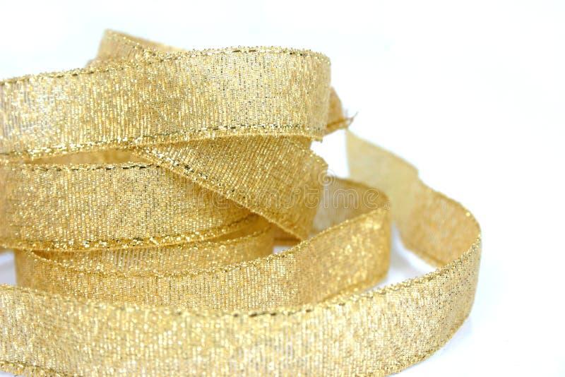 Gold ribbon 2 royalty free stock photos
