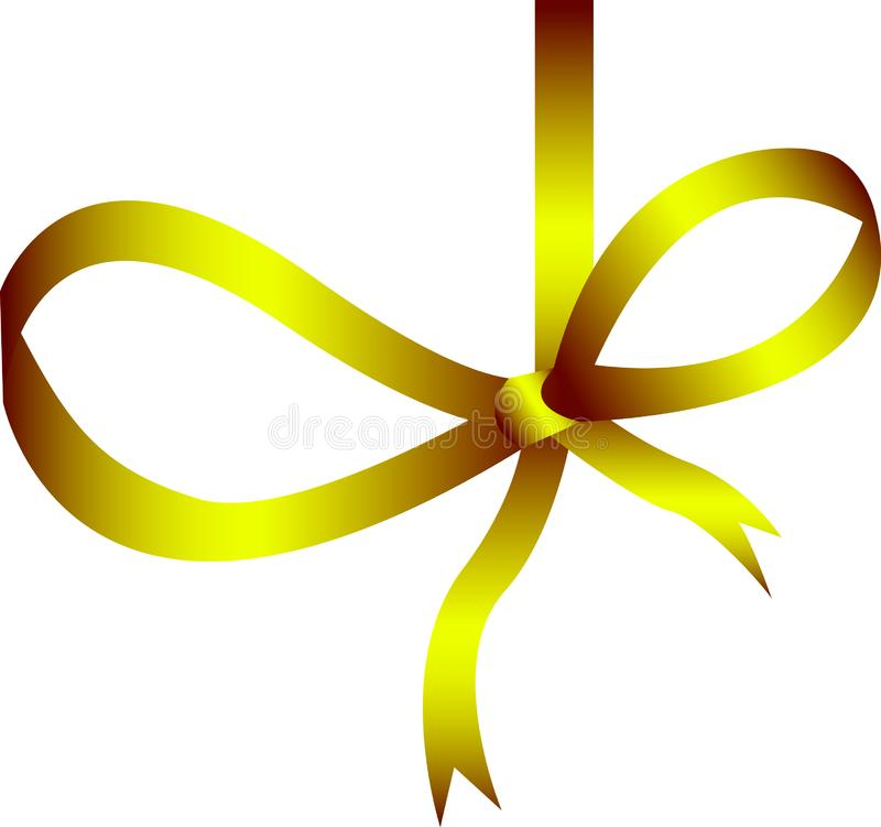 Gold ribbon stock image