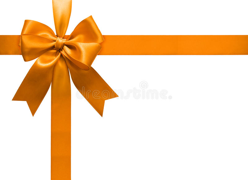 Download Gold Ribbon And Bow Stock Image - Image: 27630231
