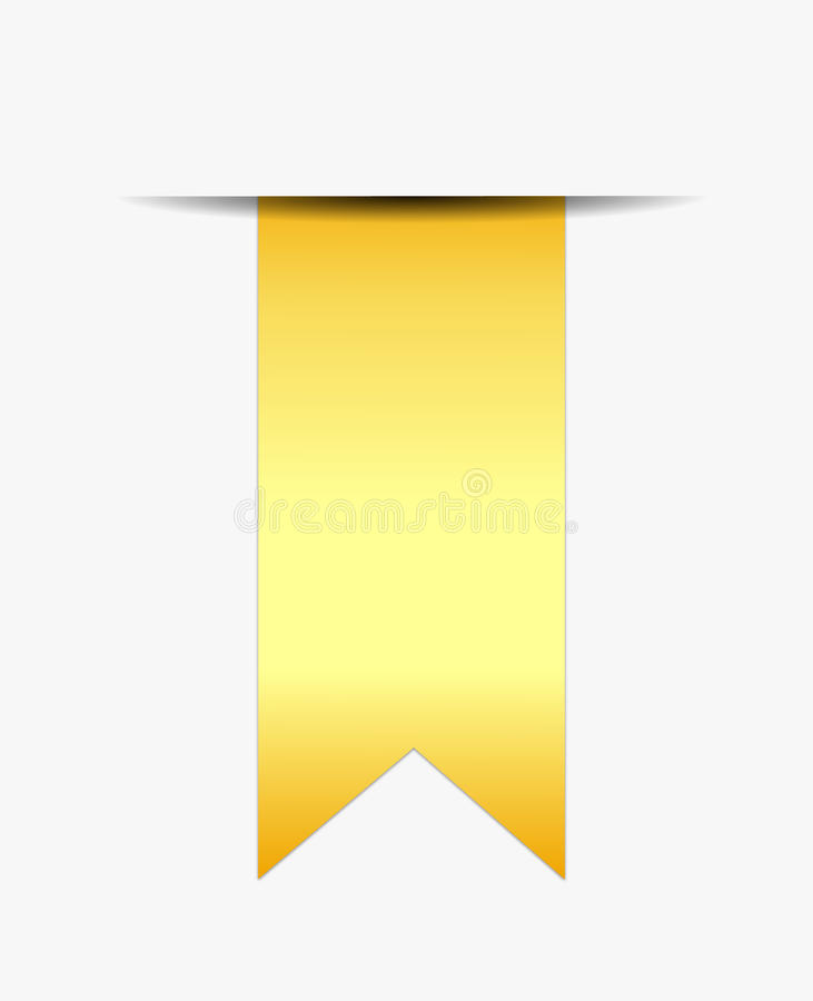 Download Gold Ribbon Promotional Royalty Free Stock Photo - Image: 28686255