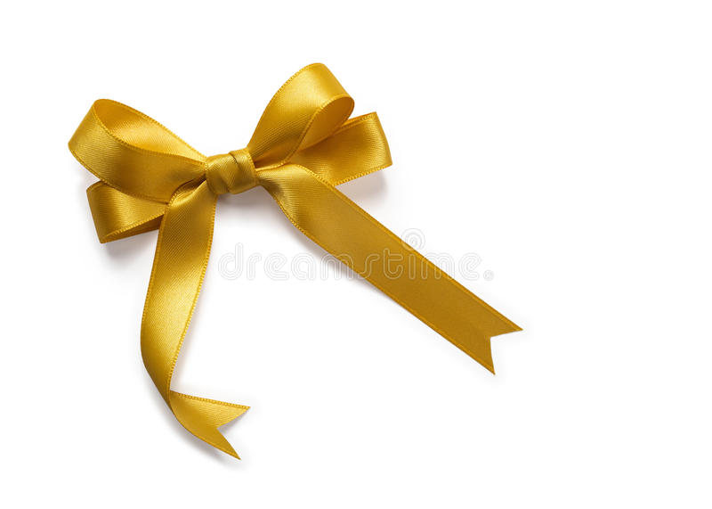 Gold Ribbon stock photography