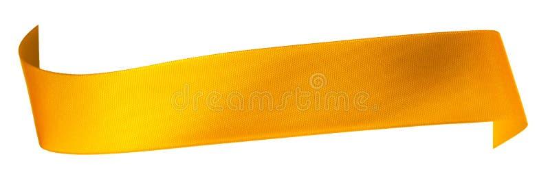 Gold ribbon stock photos
