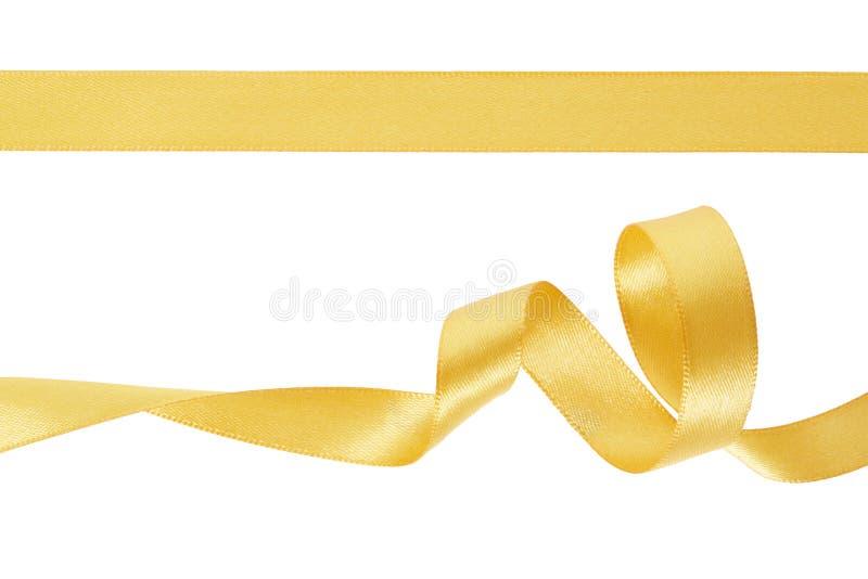 Gold ribbon set stock image