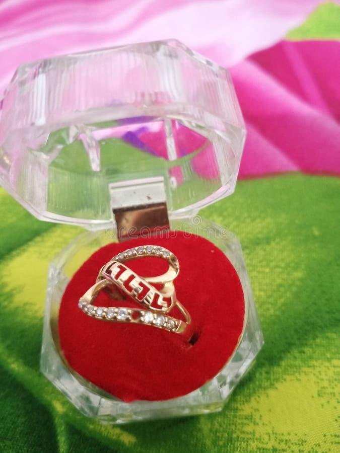 Beautifull box jewelery. Gold ring jewelry beautyfull box beautifull jewelery stock photography