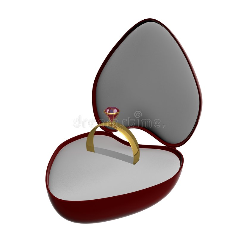 Gold Ring With A Stone Stock Image