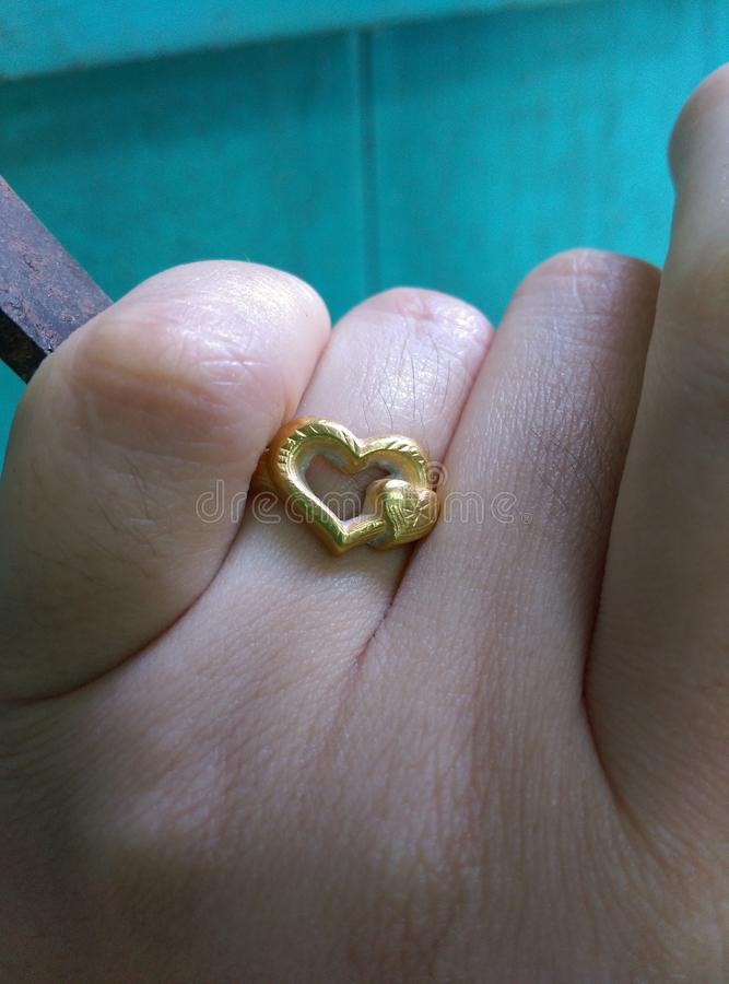 gold ring. royalty free stock images