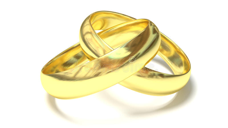 Gold rings royalty free stock photo