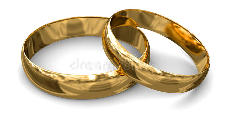 Gold Rings (clipping Path Included) Stock Photography