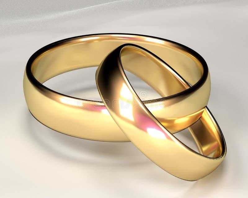 Gold Rings stock photos