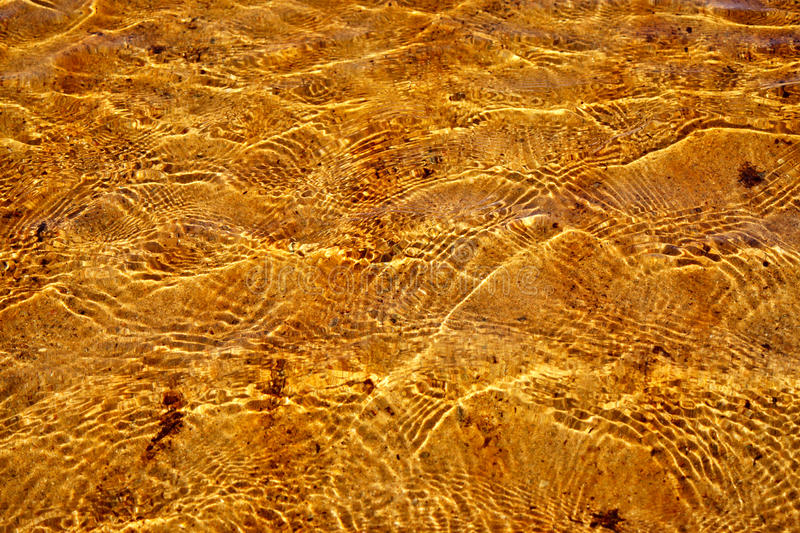 Gold ripples. Ripples on the sea surface illuminated by the sun royalty free stock photo