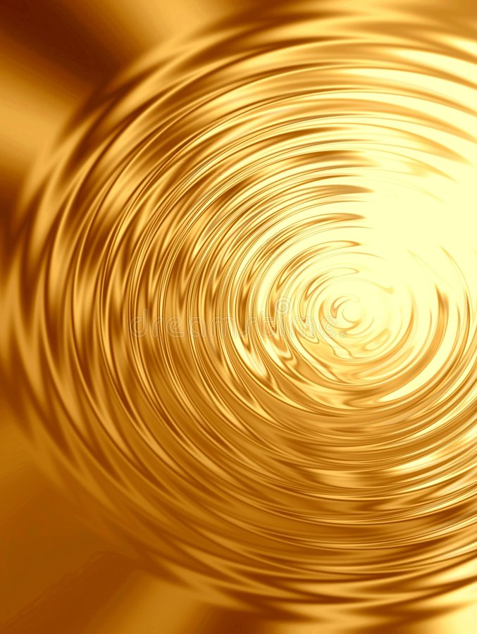 Gold Ripples in water stock illustration