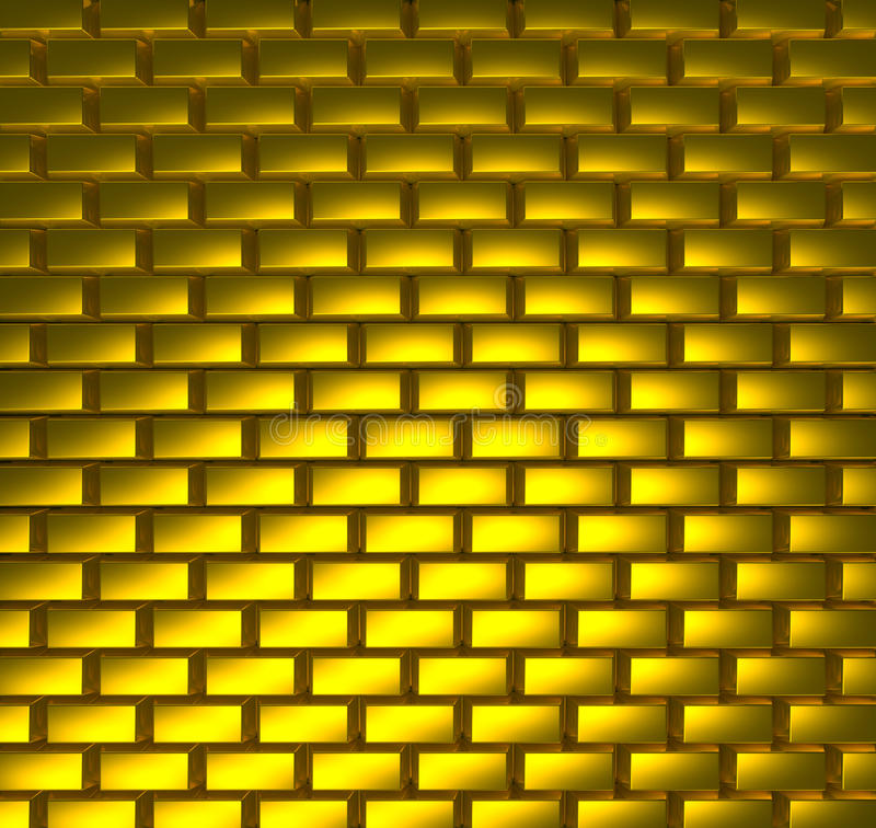 Gold road. Yellow texture from gold bricks vector illustration