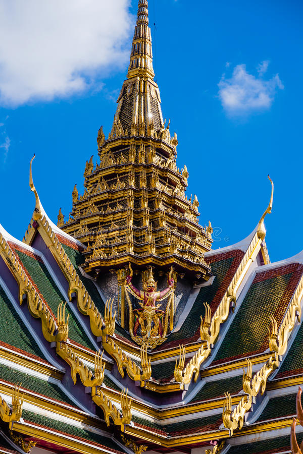 The Gold Roof of Thailand temple. In Bangkok, Thailand royalty free stock photography