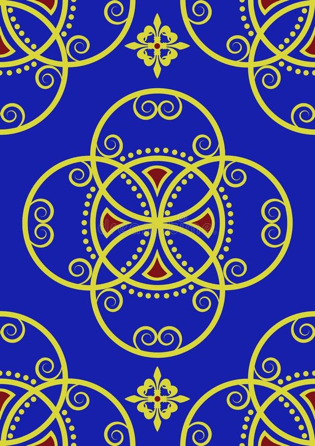 Gold royal blue seamless pattern