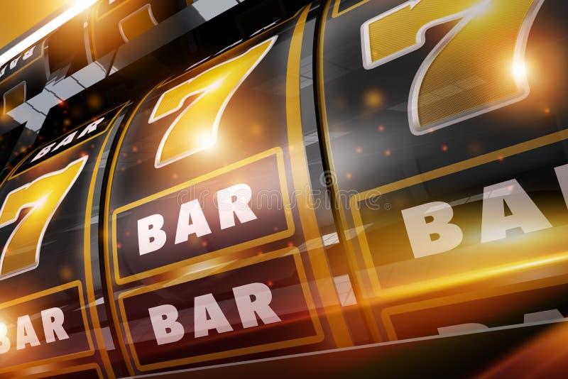 Gold Rush Casino Slots stock illustration