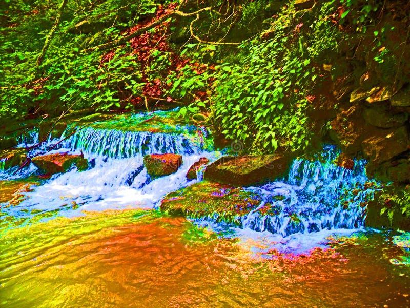 Gold Rush Waterfalls royalty free stock images
