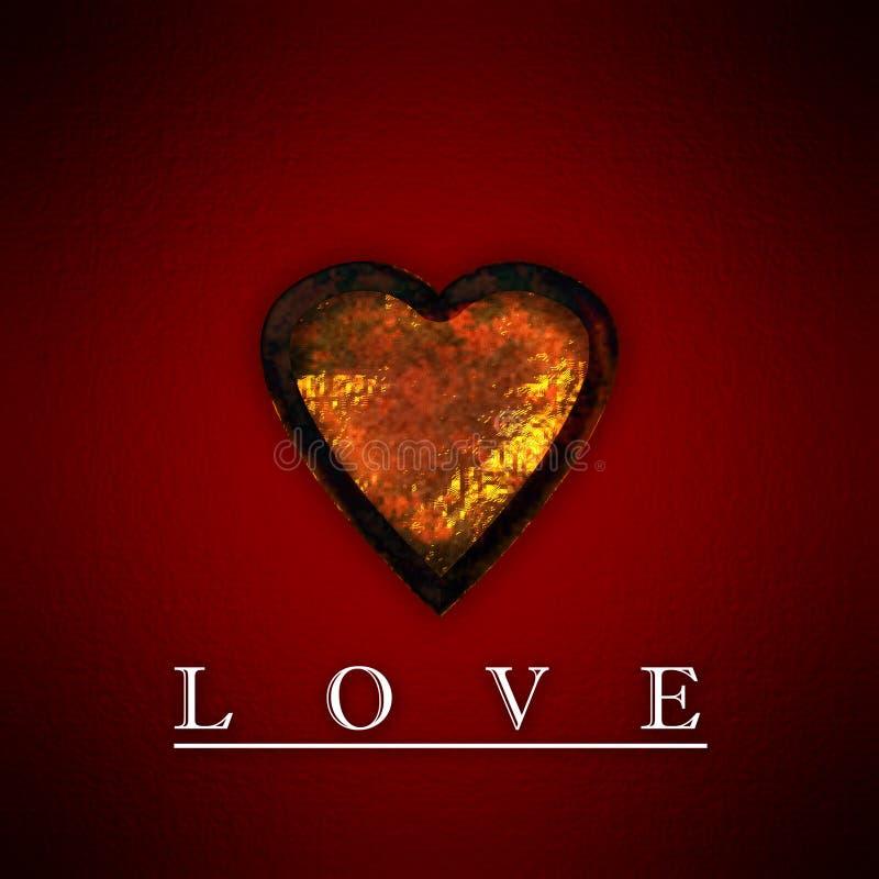 Gold Rusty Heart #2 stock illustration