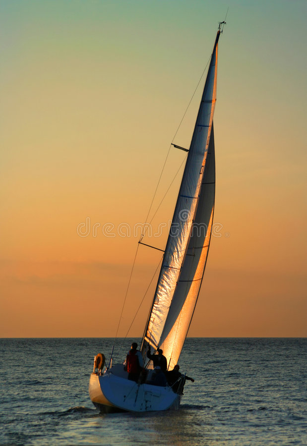 The Gold sails 2 royalty free stock photography