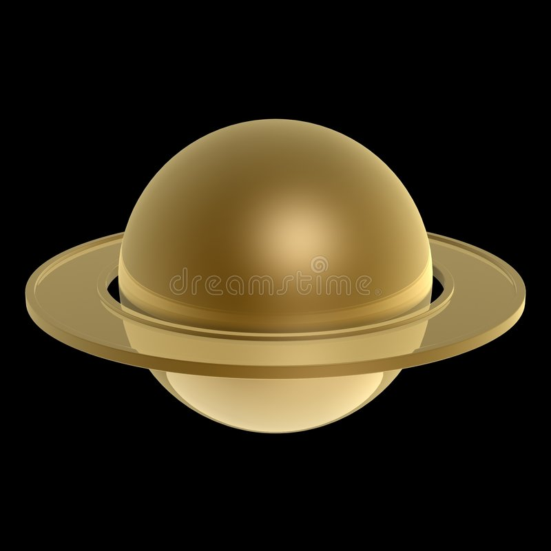 Download Gold Saturn stock illustration. Image of exploration, planet - 6899582