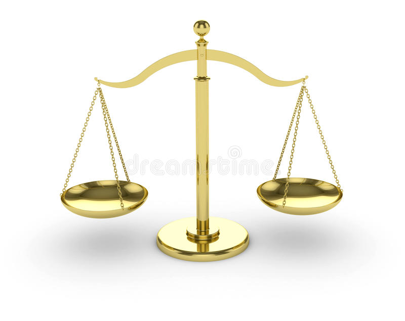 Download Gold Scales stock photo. Image of doubt, decisions, judge - 18333438