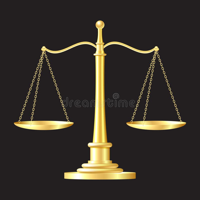 Download Gold scales icon stock photo. Image of icon, honesty - 26221920