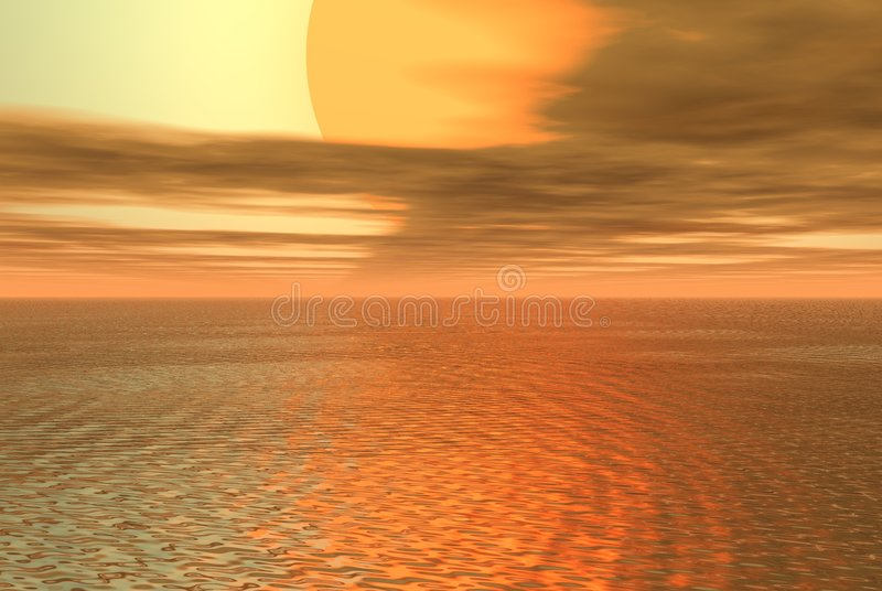 Download Gold sea stock illustration. Image of curve, template, design - 909677