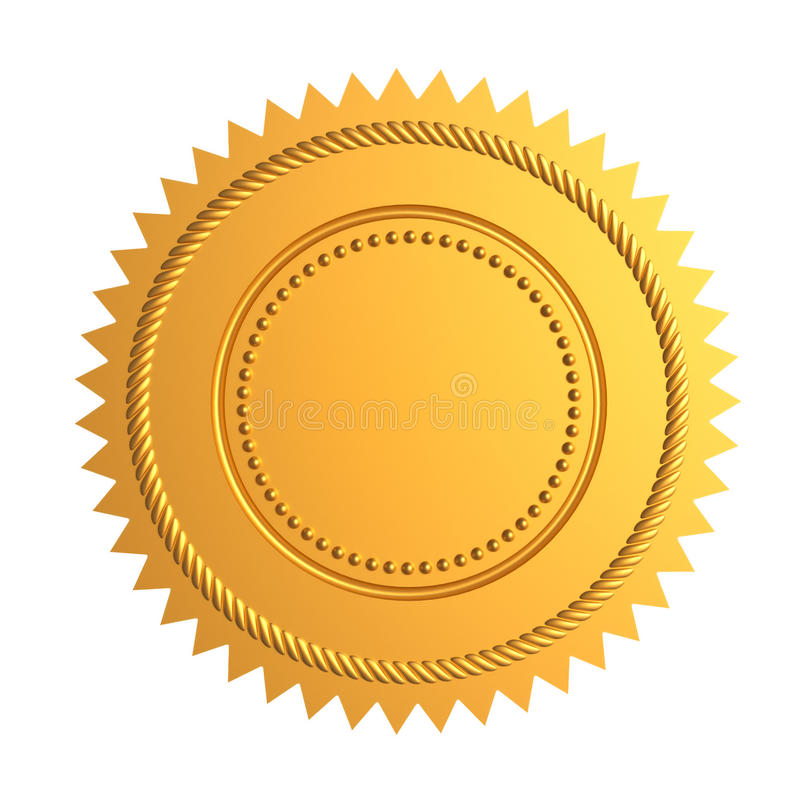 Gold seal vector illustration
