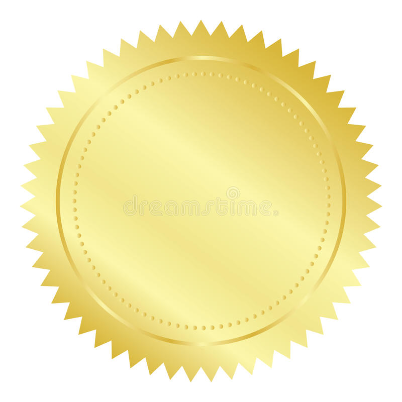 Gold seal vector illustration