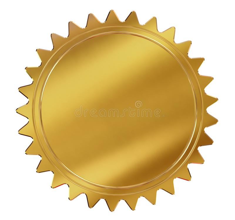Gold Seal or medal stock illustration