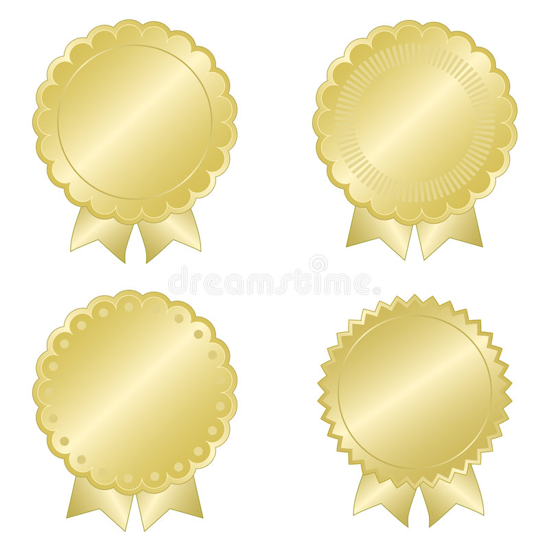Free Gold Seal Set Royalty Free Stock Photography - 6594427