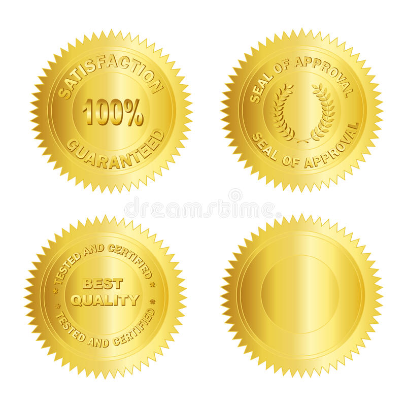 Free Gold Seal /Stamp /Medal Blank Royalty Free Stock Photos - 14595508