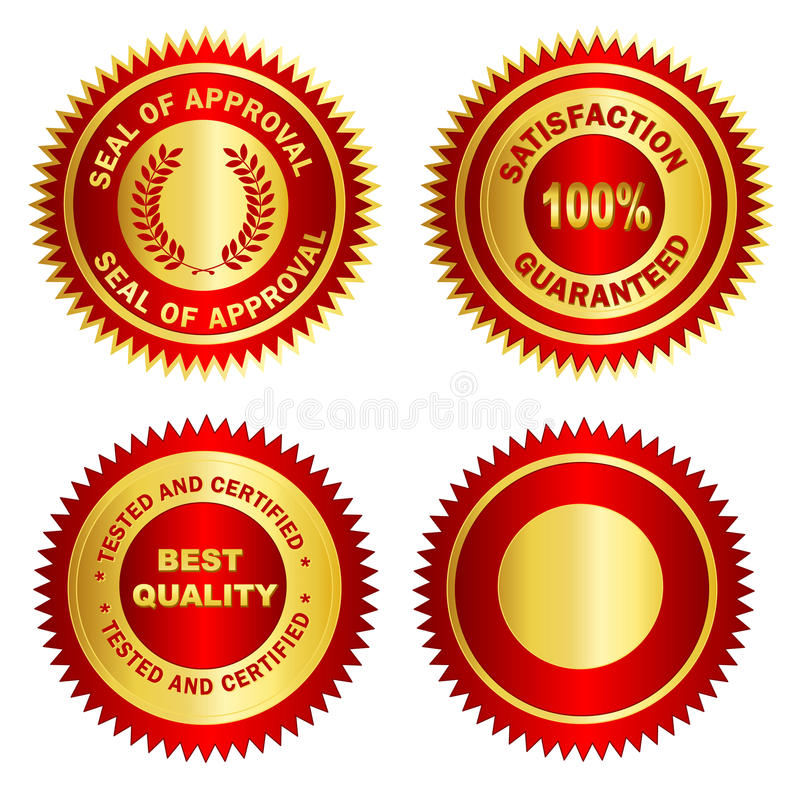 Free Gold Seal /Stamp /Medal Blank Stock Images - 21614994