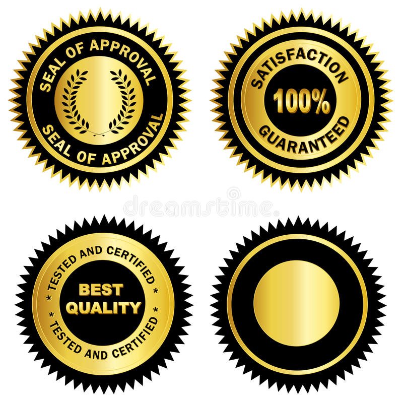 Free Gold Seal /Stamp /Medal Blank Royalty Free Stock Photography - 21615017