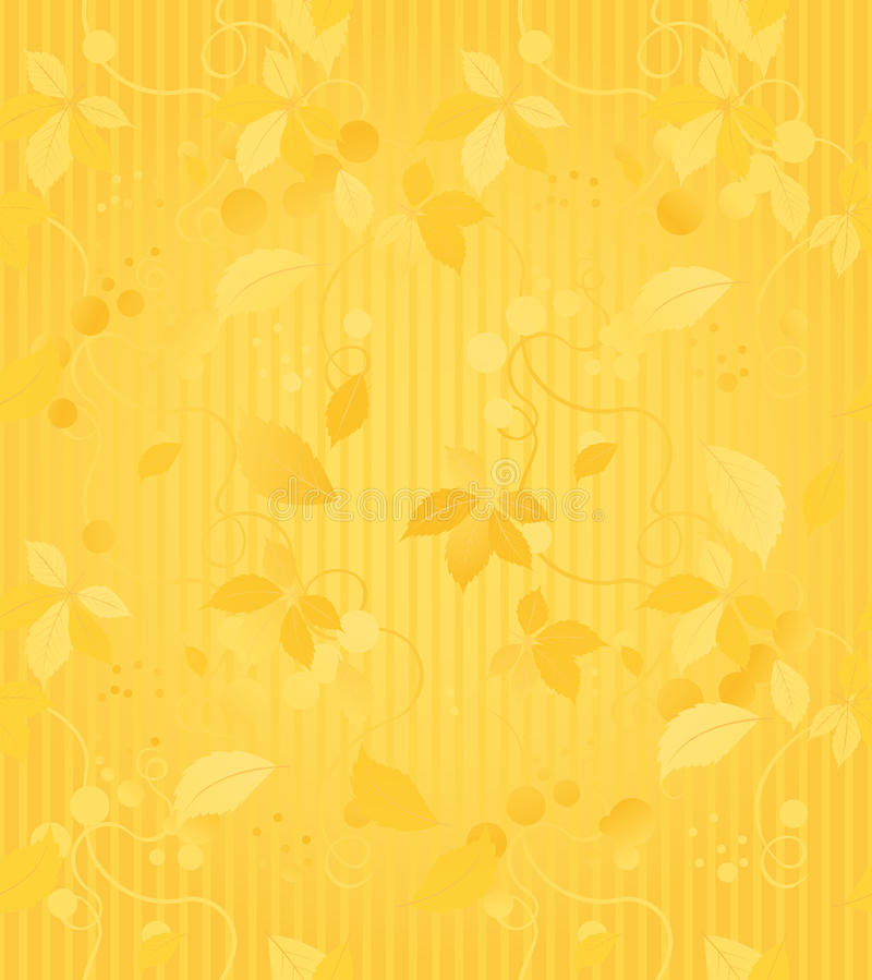 Gold Seamless Wallpaper Pattern vector illustration