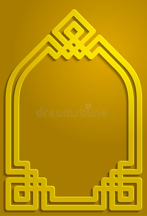 Gold shadow ornament islamic pattern background illustration royalty free stock photos