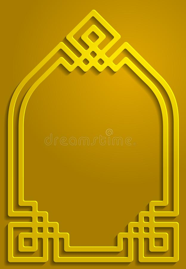 Gold shadow ornament islamic pattern background illustration stock photography
