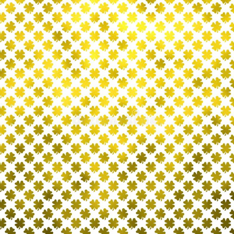 Gold Shamrock Four Leaf Clover St. Patrick's Day Polka Dot Irish Dots stock images