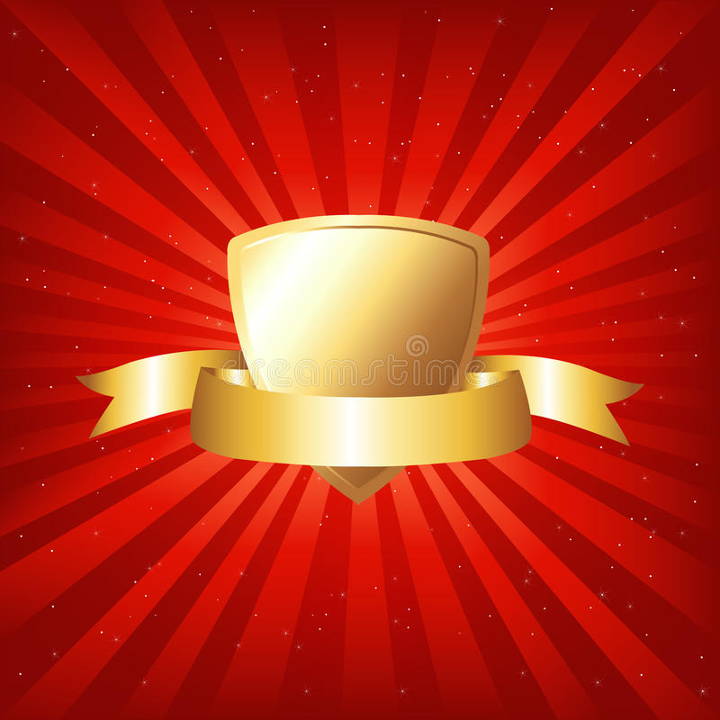 Free Gold Shield. Vector Royalty Free Stock Image - 16935666
