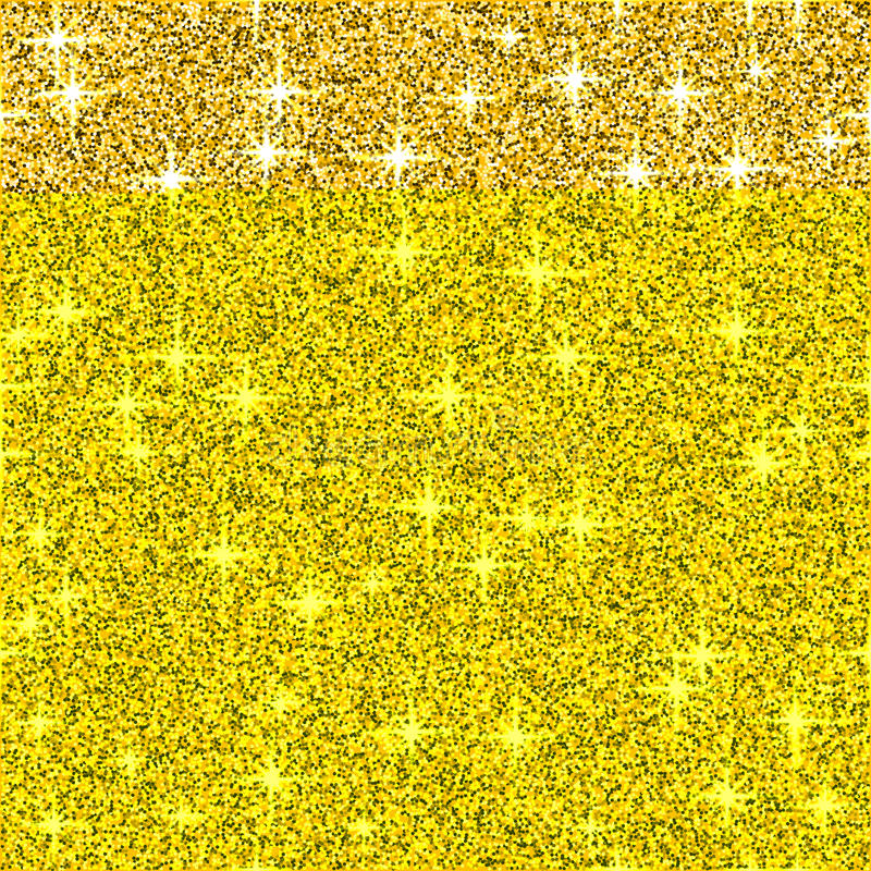 Gold Shine Glitter Vector Background, Yellow Sparkle ...