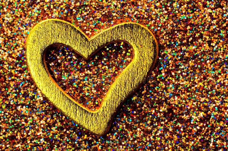 Download Gold shiny heart stock image. Image of shape, romanticism - 23071967
