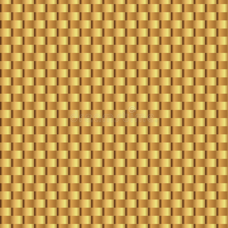 Gold shiny template. Wicker gold seamless pattern. Abstract geometric texture. Golden ribbons. Retro Vintage decoration. Design te vector illustration