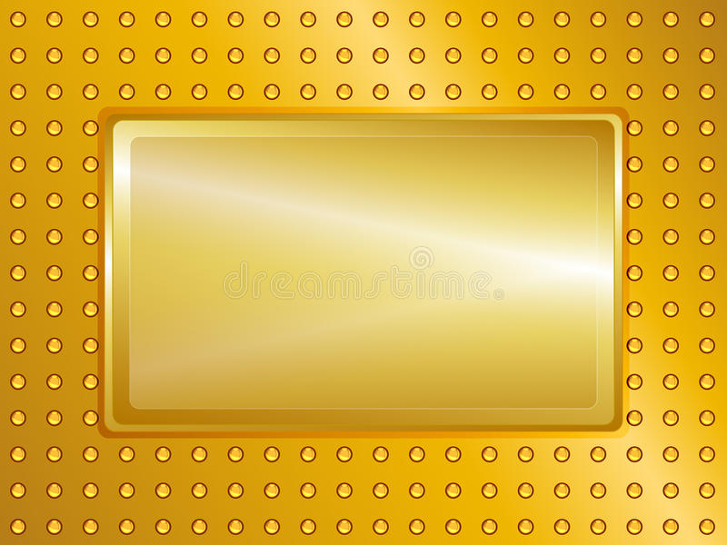 Gold sign and background royalty free illustration