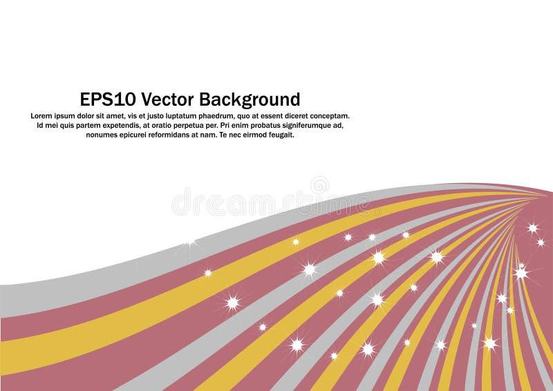 Gold, Silber, Rose Gold Swirl Strip-Vektor auf weißem Hintergrund lizenzfreie abbildung