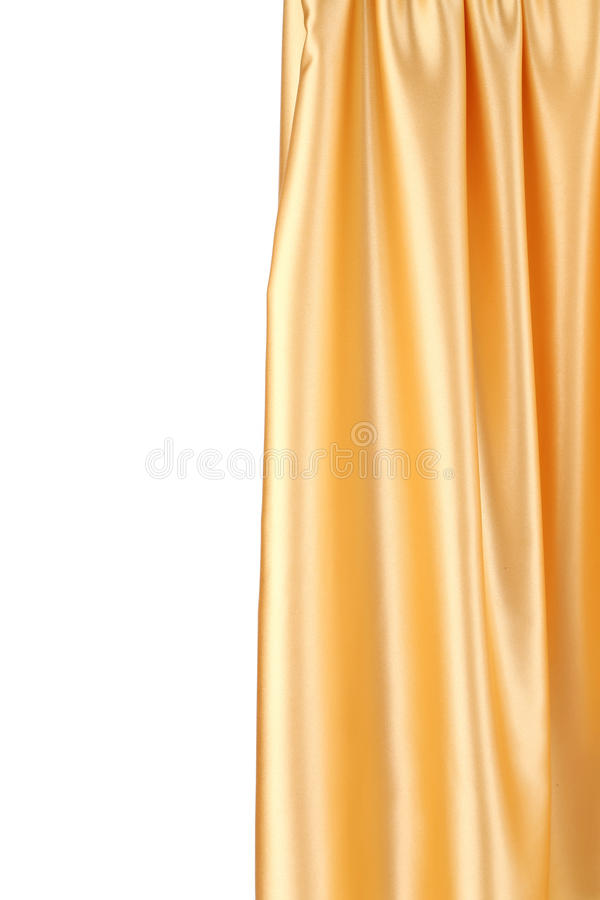 Download Gold silk drapery. stock image. Image of romantic, background - 41529633