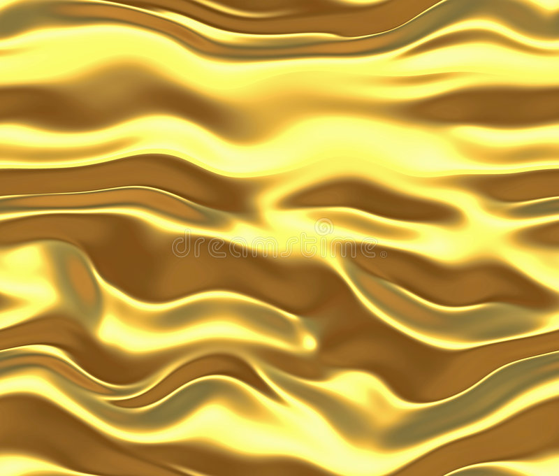 Gold silk or satin background. Image of a luxurious silk or liquid metal background vector illustration
